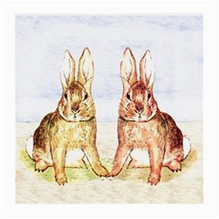 Rabbits  Medium Glasses Cloth (2 Side) by Valentinaart