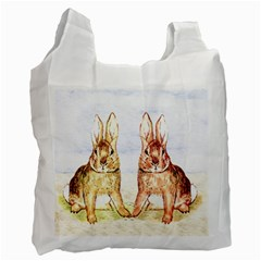 Rabbits  Recycle Bag (one Side) by Valentinaart