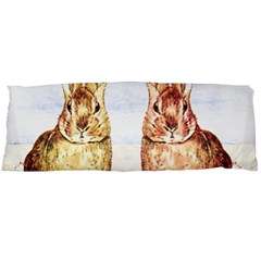 Rabbits  Body Pillow Case Dakimakura (two Sides) by Valentinaart