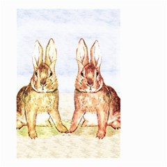 Rabbits  Small Garden Flag (two Sides) by Valentinaart