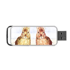 Rabbits  Portable Usb Flash (one Side) by Valentinaart