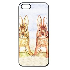 Rabbits  Apple Iphone 5 Seamless Case (black) by Valentinaart