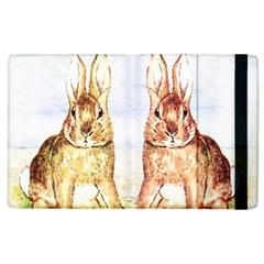 Rabbits  Apple Ipad 2 Flip Case by Valentinaart
