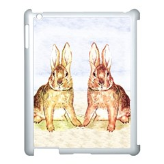 Rabbits  Apple Ipad 3/4 Case (white) by Valentinaart