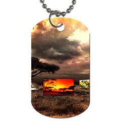 Africa Dog Tag (two Sides) by Valentinaart