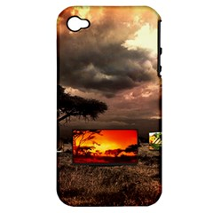 Africa Apple Iphone 4/4s Hardshell Case (pc+silicone) by Valentinaart