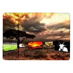 Africa Samsung Galaxy Tab 10 1  P7500 Flip Case by Valentinaart