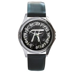 Pi Round Metal Watch by Valentinaart