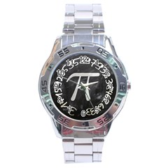 Pi Stainless Steel Analogue Watch by Valentinaart