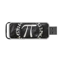 Pi Portable Usb Flash (one Side) by Valentinaart