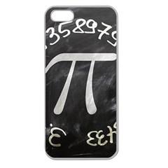 Pi Apple Seamless Iphone 5 Case (clear) by Valentinaart