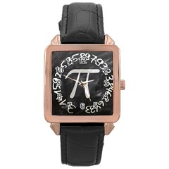 Pi Rose Gold Leather Watch  by Valentinaart