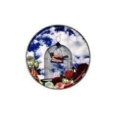Vintage Bird In The Cage  Hat Clip Ball Marker (4 Pack) by Valentinaart