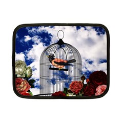 Vintage Bird In The Cage  Netbook Case (small)  by Valentinaart