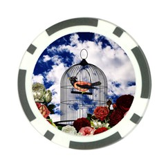 Vintage Bird In The Cage  Poker Chip Card Guard (10 Pack) by Valentinaart