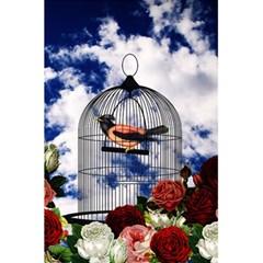 Vintage Bird In The Cage  5 5  X 8 5  Notebooks by Valentinaart