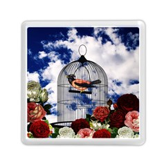 Vintage Bird In The Cage  Memory Card Reader (square)  by Valentinaart