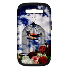 Vintage Bird In The Cage  Samsung Galaxy S Iii Hardshell Case (pc+silicone) by Valentinaart