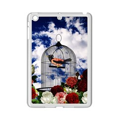 Vintage Bird In The Cage  Ipad Mini 2 Enamel Coated Cases by Valentinaart