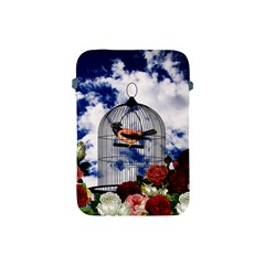 Vintage Bird In The Cage  Apple Ipad Mini Protective Soft Cases by Valentinaart