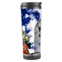 Vintage Bird In The Cage  Travel Tumbler by Valentinaart