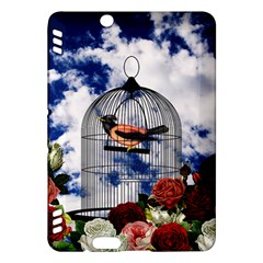 Vintage Bird In The Cage  Kindle Fire Hdx Hardshell Case by Valentinaart