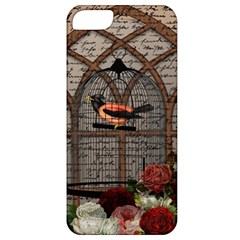 Vintage Bird In The Cage Apple Iphone 5 Classic Hardshell Case by Valentinaart