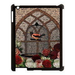 Vintage Bird In The Cage Apple Ipad 3/4 Case (black) by Valentinaart