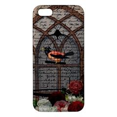 Vintage Bird In The Cage Iphone 5s/ Se Premium Hardshell Case by Valentinaart