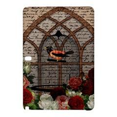 Vintage Bird In The Cage Samsung Galaxy Tab Pro 12 2 Hardshell Case by Valentinaart
