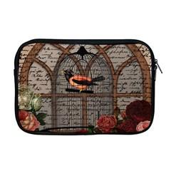 Vintage Bird In The Cage Apple Macbook Pro 17  Zipper Case by Valentinaart