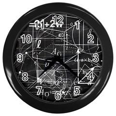 School Board  Wall Clocks (black) by Valentinaart