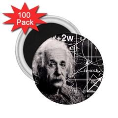Albert Einstein 2 25  Magnets (100 Pack)  by Valentinaart