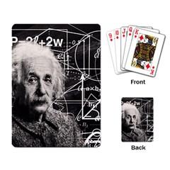 Albert Einstein Playing Card by Valentinaart