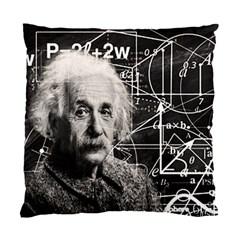 Albert Einstein Standard Cushion Case (one Side) by Valentinaart