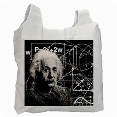 Albert Einstein Recycle Bag (One Side) by Valentinaart
