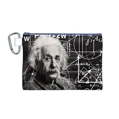 Albert Einstein Canvas Cosmetic Bag (m) by Valentinaart