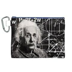 Albert Einstein Canvas Cosmetic Bag (xl) by Valentinaart