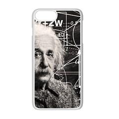 Albert Einstein Apple Iphone 7 Plus White Seamless Case by Valentinaart