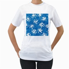 Pattern Women s T Shirt (white) (two Sided) by Valentinaart
