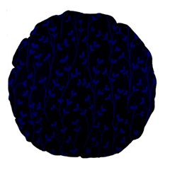 Pattern Large 18  Premium Round Cushions by Valentinaart
