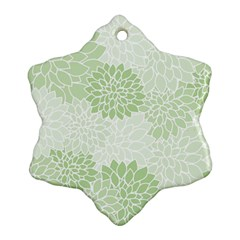 Floral Pattern Snowflake Ornament (two Sides) by Valentinaart
