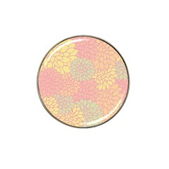 Floral Pattern Hat Clip Ball Marker (4 Pack) by Valentinaart