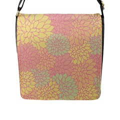 Floral Pattern Flap Messenger Bag (l)  by Valentinaart
