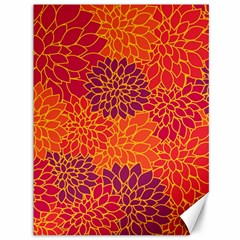 Floral Pattern Canvas 36  X 48   by Valentinaart