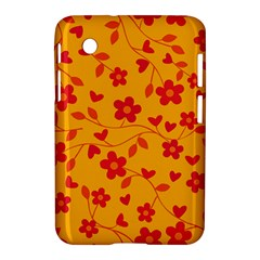 Floral Pattern Samsung Galaxy Tab 2 (7 ) P3100 Hardshell Case  by Valentinaart