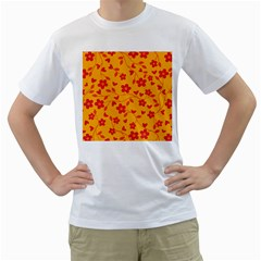 Floral Pattern Men s T Shirt (white)  by Valentinaart