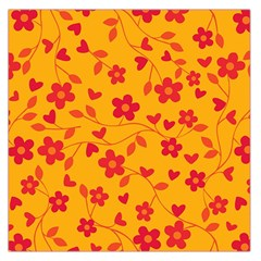 Floral Pattern Large Satin Scarf (square) by Valentinaart