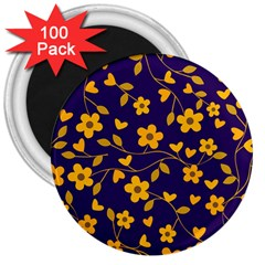 Floral Pattern 3  Magnets (100 Pack) by Valentinaart