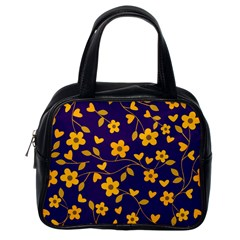 Floral Pattern Classic Handbags (one Side) by Valentinaart